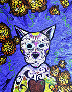 Gallacas Prints - Cat Day of the Dead Print by Lovejoy Creations