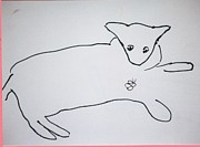 All - Cat drawing by AJ Brown
