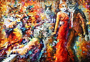 Trumpet Paintings - Cat Jazz Club by Leonid Afremov