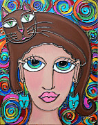 Cynthia Snyder - Cat Lady with Brown Hair