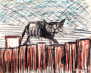 Brian Gilna - Cat on Fence