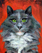 Les Nielsen - Cat on Red