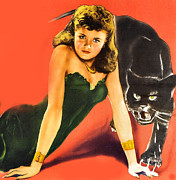Black Leopard Posters - Cat People Detail Poster by Studio Release