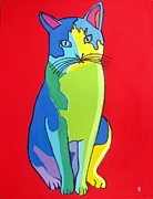 Fort Worth Originals - Cat Pop Art Portrait by Venus
