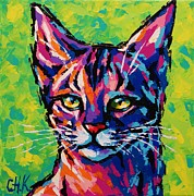 Christine Karron Metal Prints - Cat Queen Metal Print by Christine Karron