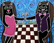 Cat Romance Print by Cynthia Snyder