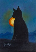 Paintings by Gretzky - Cat Silhouett3