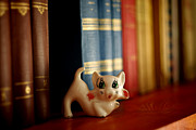 Handcarved Art - Cat Trinket And Books by Ioan Panaite
