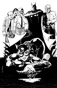 Cat Woman Prints - Cat Woman Being Ogled Print by Ken Branch