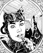 Dc Comics Originals - Cat Woman Lipstick on Mirror by Ken Branch