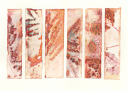 Featured Mixed Media Prints - Catalina Fernleaf Ironwood Ecoprint Print by Cassandra Tondro