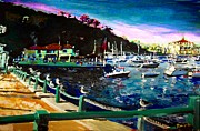 Yacht Mixed Media - Catalina Island 1 by Romy Galicia