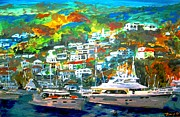 Yacht Mixed Media - Catalina Island 3 by Romy Galicia