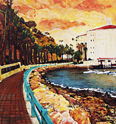 Carrie Jackson Paintings - Catalina Island by Carrie Jackson