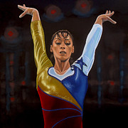 Football Paintings - Catalina Ponor by Paul  Meijering