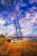 Piers Prints - Catamarans at the Lake Print by Debra and Dave Vanderlaan