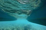 Catamaran's Hull Underwater Print by Sami Sarkis