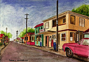 Puerto Rico Painting Metal Prints - Catano Puerto Rico Street Metal Print by Frank Hunter