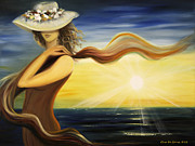 Sunsets Original Paintings - Catch by Gina De Gorna