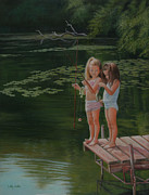 Realistic Painting Originals - Catch of the Day by Holly Kallie