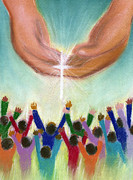 Praying Hands Posters - Catch The Vision Poster by Tanysha Bennett-Wilson