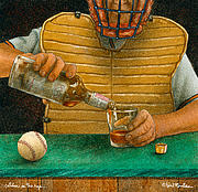 Sports Paintings - Catcher In The Rye... by Will Bullas