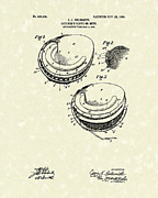 Baseball Glove Drawings - Catchers Glove 1905 Patent Art by Prior Art Design