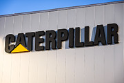 Peoria Posters - Caterpillar Sign Picture Poster by Paul Velgos