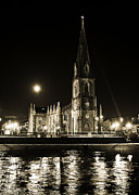 Moonlit Art - Cathedral at nine fifteen by Tony Reddington