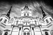 St Louis Cathedral Posters - Cathedral-Basilica of St. Louis in New Orleans Poster by Paul Velgos