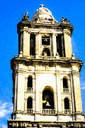Mexico City Posters - Cathedral Bell Tower - Mexico City Architecture Poster by Mark E Tisdale