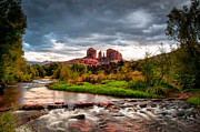Cathedral Rock Photo Metal Prints - Cathedral Crossing Red Rock Metal Print by Linda Pulvermacher