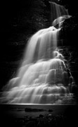 Cathedral Framed Prints - Cathedral Falls/mono Framed Print by Shane Holsclaw