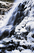 Fayette County Framed Prints - Cathedral Falls Winter Framed Print by Thomas R Fletcher