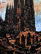 Cities Paintings - Cathedral in Spring by Oscar Penalber