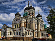 Orthodox Photo Metal Prints - Cathedral in Tallinn Metal Print by David Smith