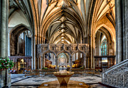 Religious Digital Art Prints - Cathedral Interior Print by Adrian Evans