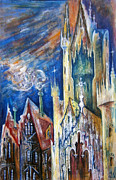 Church Drawings Originals - Cathedral by Milen Litchkov