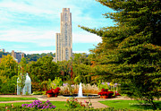 Phipps Conservatory Prints - Cathedral of Learning Print by Pat McGrath Avery