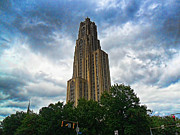 Pittsburgh Mixed Media Prints - Cathedral of Learning Print by S Patrick McKain