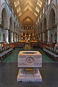 Saint David Posters - Cathedral of Saint Andrew Font Poster by David Davies