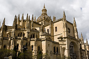 True Cross Metal Prints - Cathedral of Segovia Metal Print by Lorraine Devon Wilke