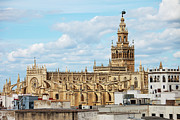 Rooftop Photos - Cathedral of Seville in Spain by Artur Bogacki