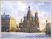 The Resurrection Of Christ Paintings - Cathedral of the Resurrection of Christ by Andrey Kozlov