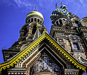 Russian Cross Photos - Cathedral of the Resurrection - St. Petersburg - Russia by Madeline Ellis