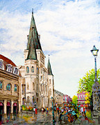 Vieux Carre Painting Originals - Cathedral Plaza by Dianne Parks