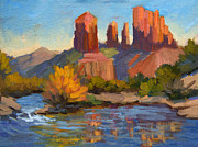 Cathedral Rock Paintings - Cathedral Rock 2 by Diane McClary