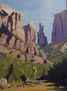 Cathedral Rock Paintings - Cathedral Rock 2 by Fred Urron