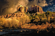 Jon Burch Metal Prints - Cathedral Rock - Before the Rains Came Metal Print by Jon Burch Photography