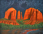 Cathedral Rock Paintings - Cathedral Rock by David Land